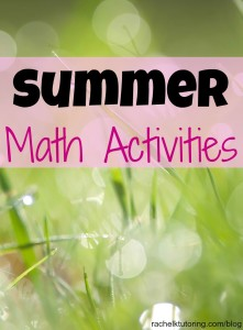 Summer Math Activities | Rachel K Tutoring Blog