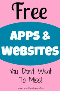 Free Apps & Websites | Rachel K Tutoring Blog