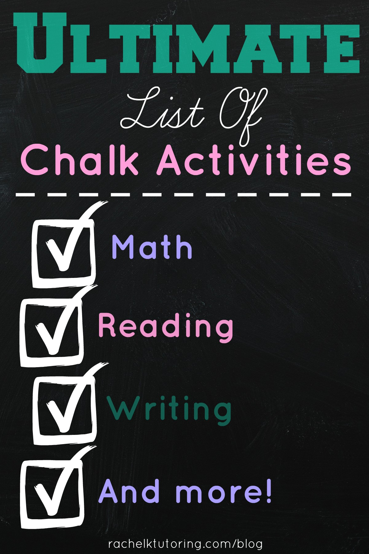 Ultimate List Of Chalk Activities Rachel K Tutoring Blog
