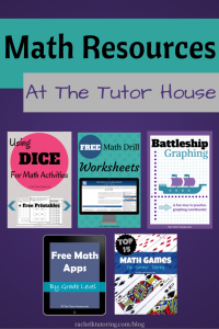 Math Resources at The Tutor House | Rachel K Tutoring Blog