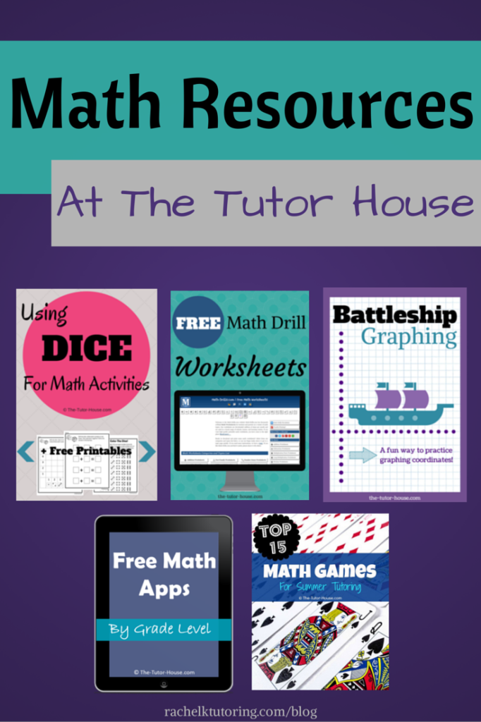 Math Resources at The Tutor House - Rachel K Tutoring Blog