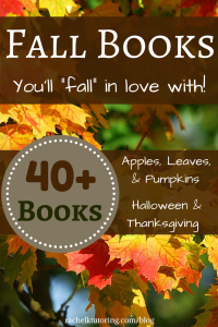 Fall Books | Rachel K Tutoring Blog