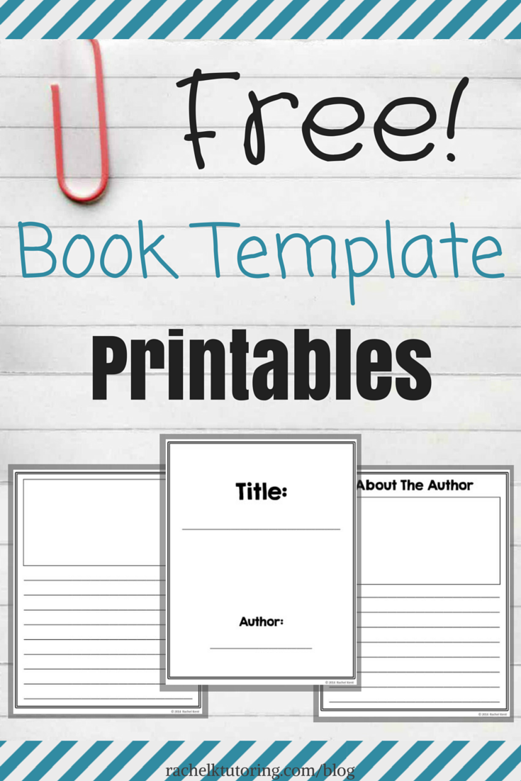 Free book template printables rachel k tutoring blog for Free online cookbook template