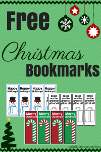 Free Christmas Bookmarks | Rachel K Tutoring Blog