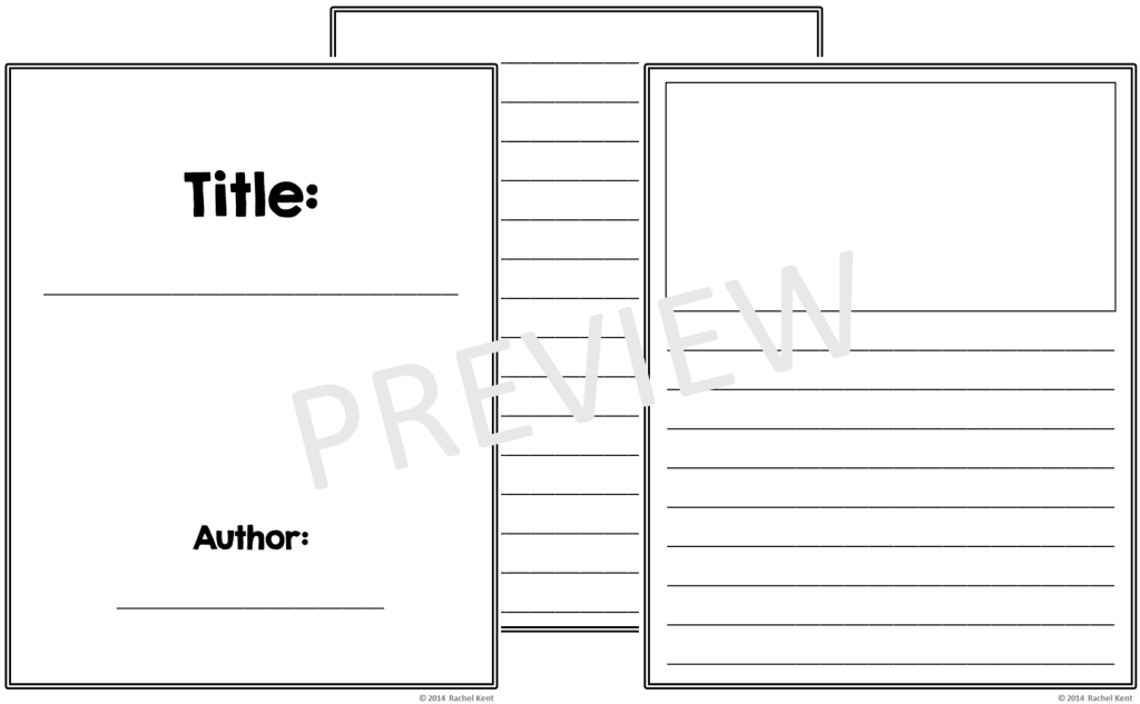 Free book template printables rachel k tutoring blog for Blank book template for kids