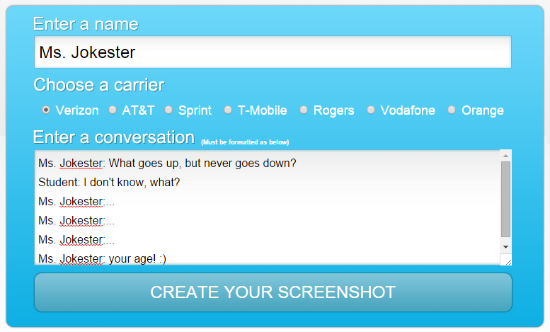 Text Message Generator - Rachel K Tutoring Blog