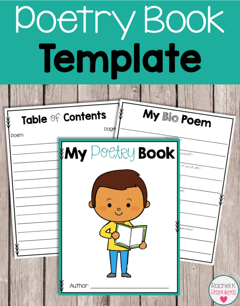 Poetry book template rachel k tutoring blog - One of your students left their book on the table ...
