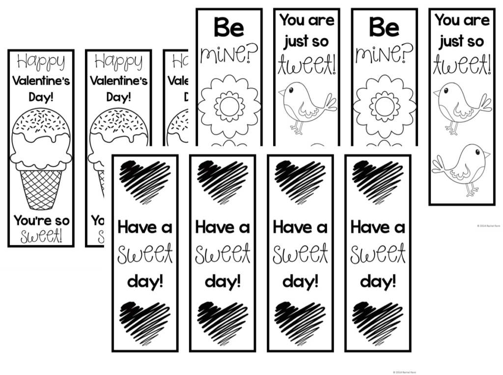 This is a photo of Printable Valentines Bookmarks throughout beautiful
